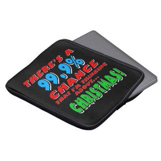 99.9% CHRISTMAS (wht) Laptop Sleeve