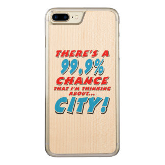 99.9% CITY (blk) Carved iPhone 8 Plus/7 Plus Case