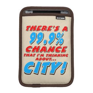 99.9% CITY (blk) iPad Mini Sleeve
