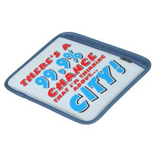 99.9% CITY (blk) iPad Sleeve
