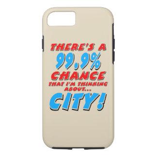 99.9% CITY (blk) iPhone 8/7 Case