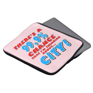 99.9% CITY (blk) Laptop Sleeve