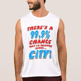 99.9% CITY (blk) Singlet