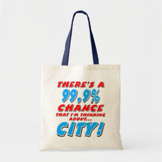 99.9% CITY (blk) Tote Bag