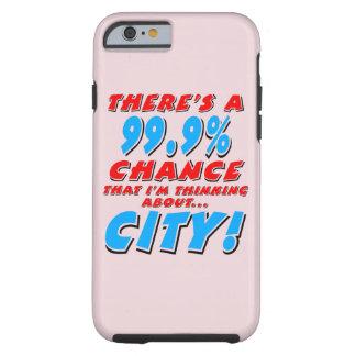 99.9% CITY (blk) Tough iPhone 6 Case