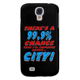 99.9% CITY (wht) Galaxy S4 Covers