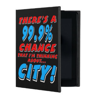 99.9% CITY (wht) iPad Cover