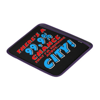 99.9% CITY (wht) MacBook Air Sleeve