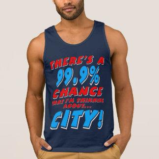 99.9% CITY (wht) Singlet