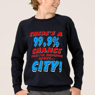 99.9% CITY (wht) Sweatshirt