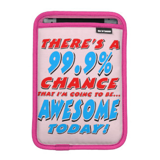 99.9% GOING TO BE AWESOME (blk) iPad Mini Sleeve