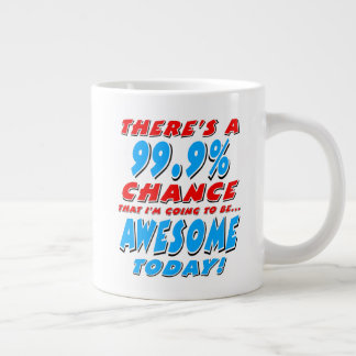 99.9% GOING TO BE AWESOME (blk) Large Coffee Mug