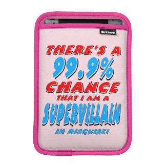 99.9% I am a SUPER VILLAIN (blk) iPad Mini Sleeve