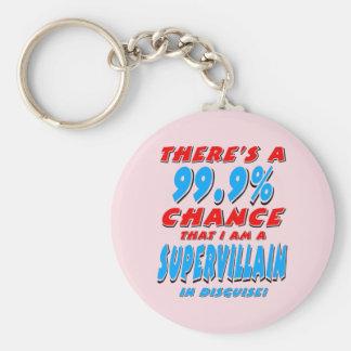 99.9% I am a SUPER VILLAIN (blk) Key Ring
