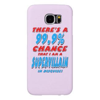 99.9% I am a SUPER VILLAIN (blk) Samsung Galaxy S6 Cases