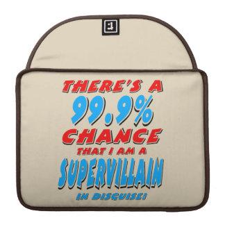 99.9% I am a SUPER VILLAIN (blk) Sleeve For MacBooks