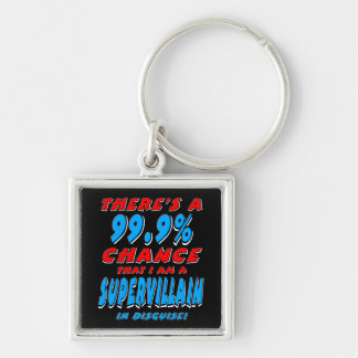 99.9% I am a SUPER VILLAIN (wht) Key Ring