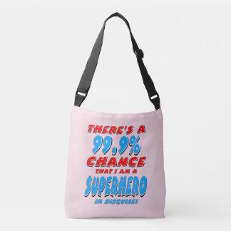 99.9% I am a SUPERHERO (blk) Crossbody Bag