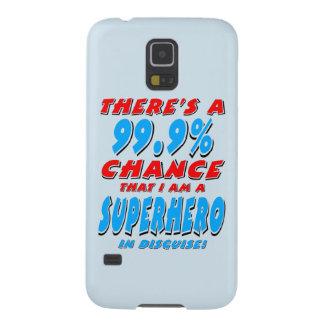 99.9% I am a SUPERHERO (blk) Galaxy S5 Covers