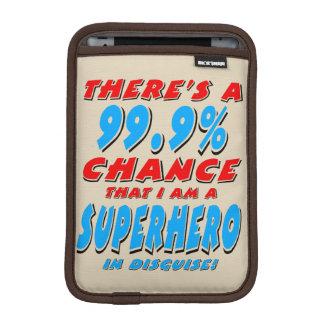 99.9% I am a SUPERHERO (blk) iPad Mini Sleeve