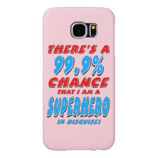 99.9% I am a SUPERHERO (blk) Samsung Galaxy S6 Cases