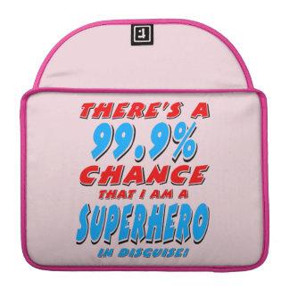 99.9% I am a SUPERHERO (blk) Sleeve For MacBook Pro