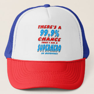99.9% I am a SUPERHERO (blk) Trucker Hat