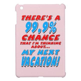 99.9% NEXT VACATION (blk) iPad Mini Case