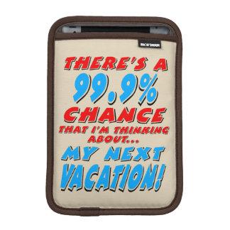 99.9% NEXT VACATION (blk) iPad Mini Sleeve