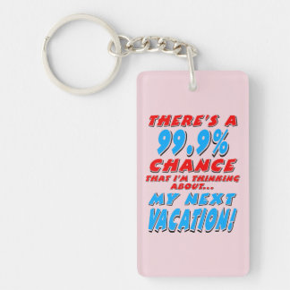99.9% NEXT VACATION (blk) Key Ring