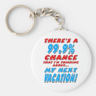 99.9% NEXT VACATION (blk) Key Ring