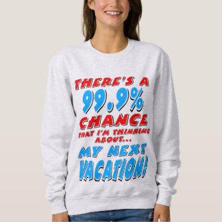 99.9% NEXT VACATION (blk) Sweatshirt