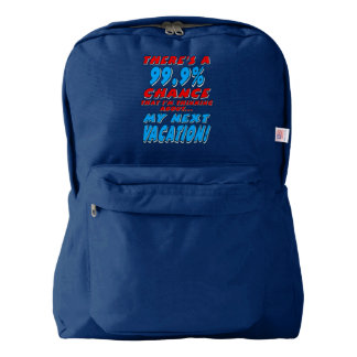 99.9% NEXT VACATION (wht) Backpack