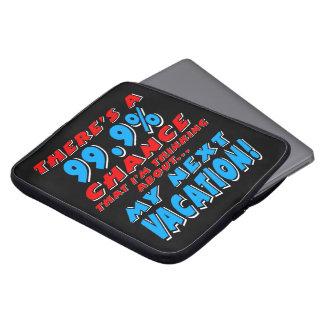 99.9% NEXT VACATION (wht) Laptop Sleeve