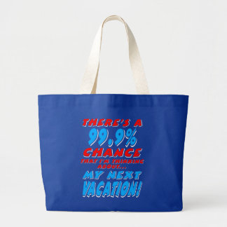 99.9% NEXT VACATION (wht) Large Tote Bag