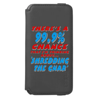 99.9% SHREDDING THE GNAR (wht) Incipio Watson™ iPhone 6 Wallet Case