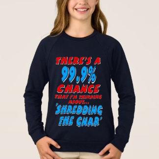 99.9% SHREDDING THE GNAR (wht) Sweatshirt