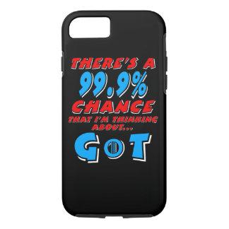99.9% Thinking GoT (wht) iPhone 8/7 Case