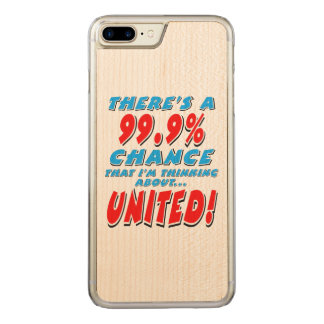 99.9% UNITED (blk) Carved iPhone 8 Plus/7 Plus Case