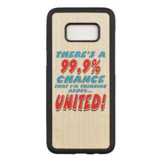 99.9% UNITED (blk) Carved Samsung Galaxy S8 Case