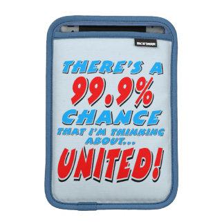 99.9% UNITED (blk) iPad Mini Sleeve