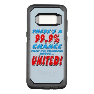 99.9% UNITED (blk) OtterBox Commuter Samsung Galaxy S8 Case