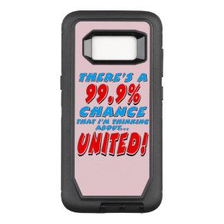 99.9% UNITED (blk) OtterBox Defender Samsung Galaxy S8 Case
