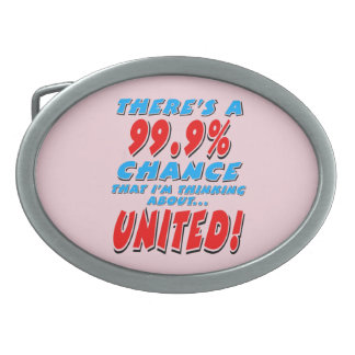99.9% UNITED (blk) Oval Belt Buckle