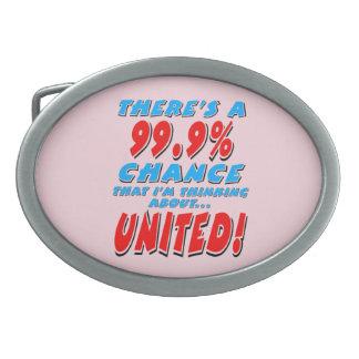 99.9% UNITED (blk) Oval Belt Buckles