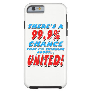 99.9% UNITED (blk) Tough iPhone 6 Case