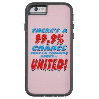 99.9% UNITED (blk) Tough Xtreme iPhone 6 Case