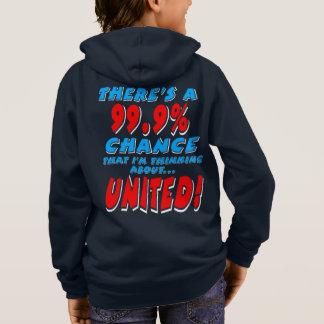 99.9% UNITED (wht) Hoodie