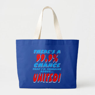 99.9% UNITED (wht) Large Tote Bag
