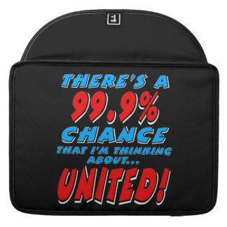 99.9% UNITED (wht) MacBook Pro Sleeves